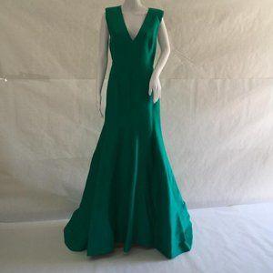 Halston long dress green color, size 6 & 14 DM27